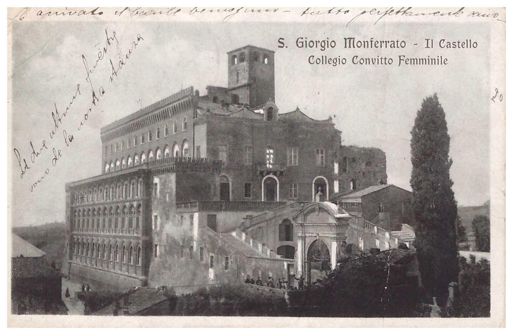 San Giorgio Monf.- Il castello collegio convitto femminile 22.8.1921